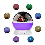Вращающийся ночник-проектор Звездное небо STAR MASTER DREAM фиолетовый
