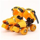 Роликовые коньки JOEREX 5037 детские четырехколесные (желтый)