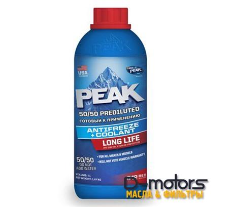 Охлаждающая жидкость Peak Long Life 50/50 (1л)