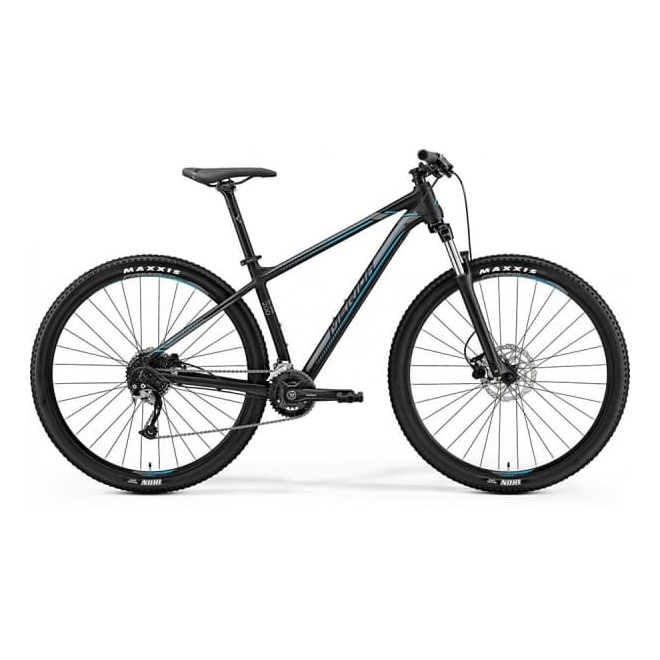 Велосипед Merida Big Nine 200 Matt Black (Silver/Blue) 2019, интернет-магазин Sportcoast.ru