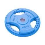 Диск обрезиненный BB-201, d=26 мм, синий, 2,5 кг