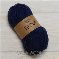 Пряжа Teddi, Синий Тёмный 11709, 110м в 50г, альпака, Перу
