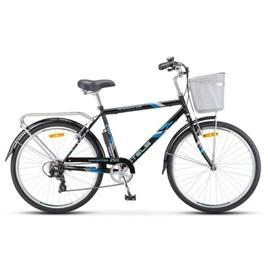 """Велосипед Stels Navigator 26"""" 250 Gent Z010 Чёрный (с корзиной) (LU089100), интернет-магазин Sportcoast.ru"""