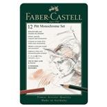 Набор художественный Faber Castell Pitt Monochrome 12 предметов в коробке 112975