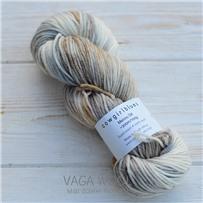 Пряжа Merino DK multicolor карамель/песок/натураль/серебряная лиса, 200м/100г, Cowgirlblues