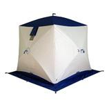 Зимняя палатка куб Пингвин Призма Термолайт трехслойная (белый/синий)