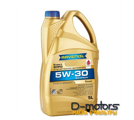 Моторное масло Ravenol  Expert SHPD 5W-30 (5л.)