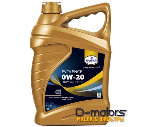 Моторное масло Eurol Evolence 0W-20 (5л.)