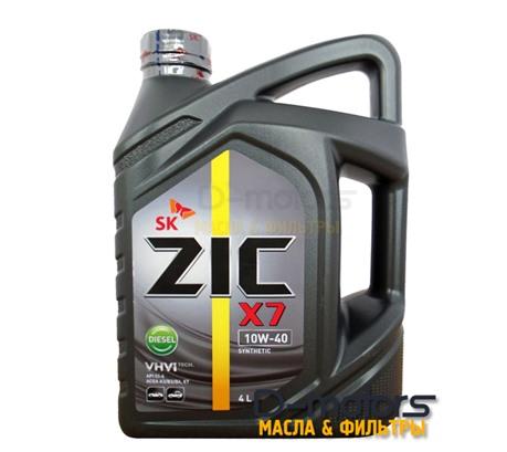 Моторное масло ZIC X7 Diesel 10W-40 (4л.)