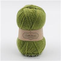 Пряжа Yaku Зелёное яблоко 1313, 200м/50г, CaMaRose, Aeblegron