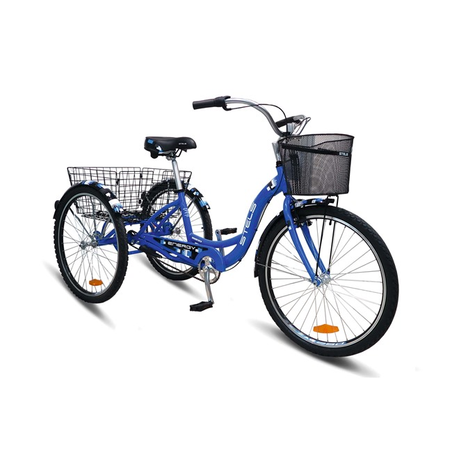 Велосипед Stels Energy Ill 26 (2016) Синий (с корзиной) , интернет-магазин Sportcoast.ru