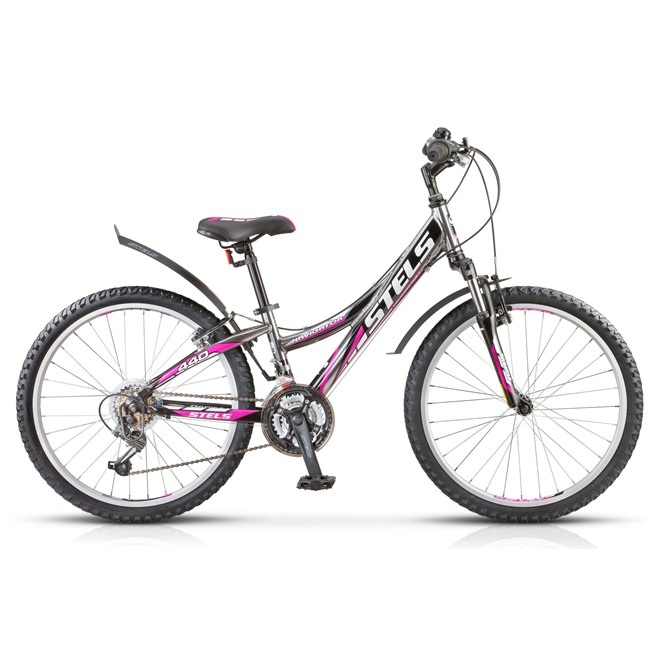 Велосипед Stels Navigator 440 V 24 (2016) Черный/Хром/Пурпурный , интернет-магазин Sportcoast.ru